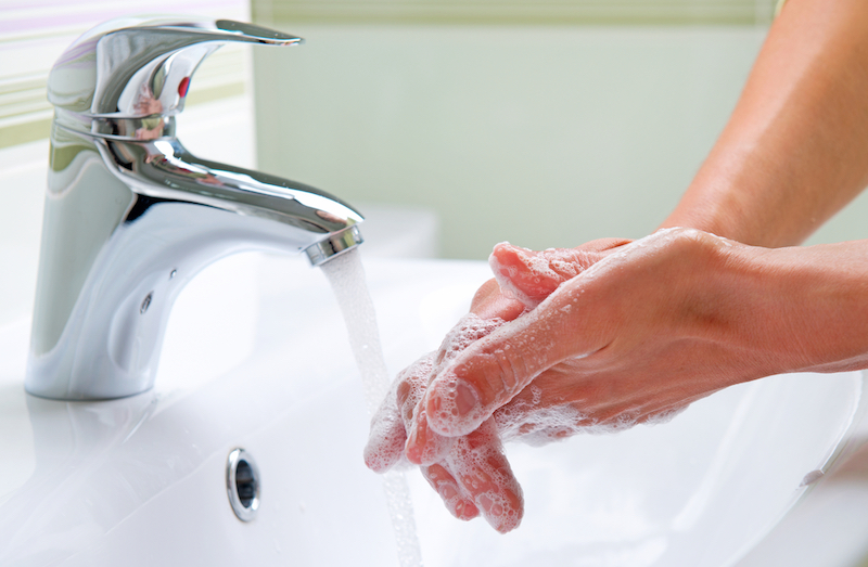 Safety Steps Washing Hands